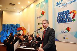 Secretário de Relações Institucionais do Gov. Estado Jorge Branco, durante abertura do 34º Congresso de Municípios, no Plaza São Rafael, em Porto Alegre. FOTO: Jefferson Bernardes/ Agência Preview
