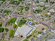 Nederland, Noord-Brabant, Tilburg, 14-05-2020; Wilhelminapark, De Pont, museum voor hedendaagse kunst, voormalige wolfabriek.<br /> De Pont, contemporary art museum, former wool factory.<br /> <br /> aerial photo (additional fee required);<br /> copyright foto/photo Siebe Swart