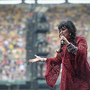 WASHINGTON, DC - July 4, 2015 - Ann Wilson of Heart performs  at the Foo Fighters 20th Anniversary Blowout at RFK Stadium in Washington, D.C. (Photo by Kyle Gustafson / For The Washington Post)