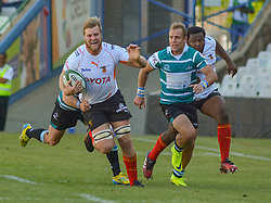 Tienie Burger of the Free State Cheetahs and AJ Coertzen of the Griquas during the Currie Cup Premier division match between the The Free State Cheetahs and Griquas held at Toyota Stadium (Free State Stadium), Bloemfontein, South Africa on the 1st October 2016<br /> <br /> Photo by:   Frikkie Kapp / Real Time Images