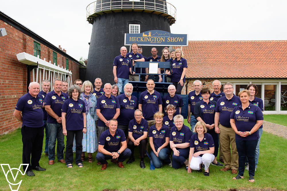 Two volunteer groups from Heckington in Lincolnshire have been awarded the Queen's Award for Voluntary Services.  Volunteers from Heckington Windmill and the Heckington Show have been celebrating receiving the award.  Pictured is the team of volunteers from the Heckington Show.<br /> <br /> Picture: Chris Vaughan Photography<br /> Date: June 9, 2018