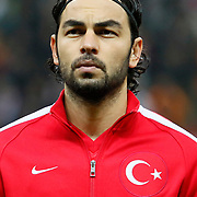 Turkey's Selcuk Inan during their UEFA Euro 2016 qualification Group A soccer match Turkey betwen Kazakhstan at AliSamiYen Arena in Istanbul November 16, 2014. Photo by Kurtulus YILMAZ/TURKPIX
