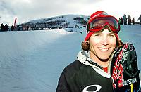 The Arctic Challenge/Halfpipe - FINALS/Tromsø/31032004:<br /> Winner Andy Finch - USA in front of the halfpipe in Kroken<br /> FOTO: KAJA BAARDSEN/DIGITALSPORT