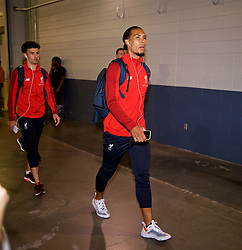 NEW JERSEY, USA - Wednesday, July 25, 2018: Liverpool's Virgil van Dijk arrives before a preseason International Champions Cup match between Manchester City FC and Liverpool FC at the Met Life Stadium. (Pic by David Rawcliffe/Propaganda)