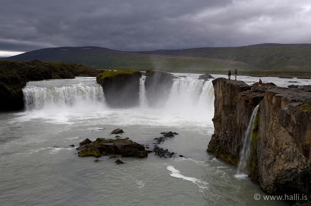 Goðafoss / The waterfall, Godafoss..Goðafoss, The waterfall, Godafoss