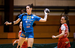 Alja Koren of RK Krim Mercator during handball match between RK Krim Mercator and ZRK Z'Dezele Celje in Last Round of Slovenian National Championship 2016/17, on April 18, 2017 in Arena Galjevica, Ljubljana, Slovenia. Photo by Vid Ponikvar / Sportida