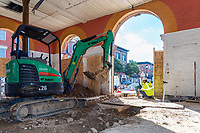 Construction photo of the Broadway Market North Building in Baltimore by Jeffrey Sauers of Commercial Photographics