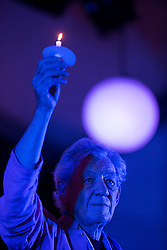 © Licensed to London News Pictures . 31/08/2015 . Manchester , UK . Actor SIR IAN McKELLEN at a candlelit vigil in memory of the victims of HIV and AIDS , in Sackville Gardens in Manchester's Gay Village , closes 2015 Manchester Pride . Photo credit : Joel Goodman/LNP