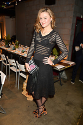AMBER ATHERTON at the Smashbox Influencer Dinner hosted by Lauren Laverne held at Carousel, 71 Blandford Street, London on 21st January 2016.