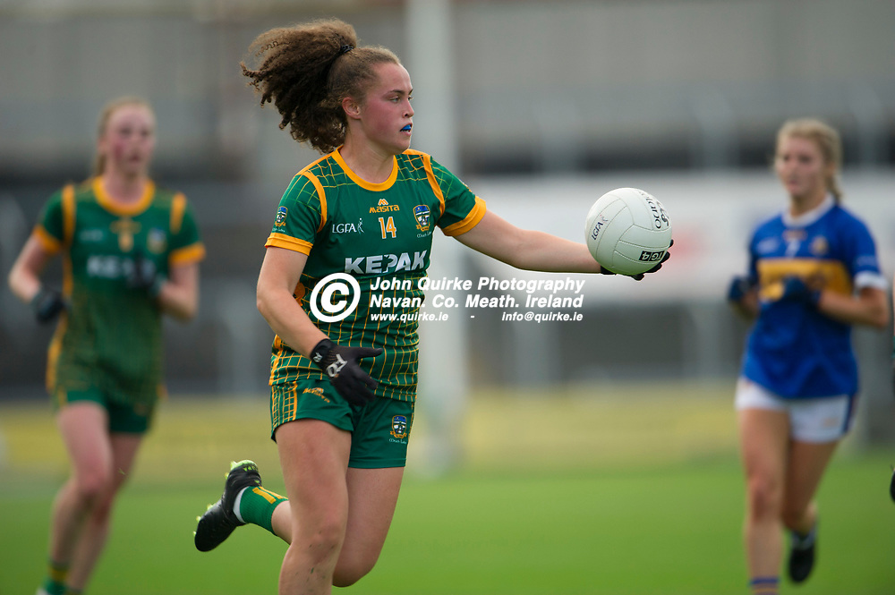 23-07-21. Meath v Tipperary - LGFA All-Ireland Senior Championship - Group 3 Round 2 at O'Moore Park, Portlaoise.<br /> Emma Duggan, Meath in action against Tipperary in the LGFA All-Ireland Senior Championship.<br /> Photo: John Quirke / www.quirke.ie<br /> ©John Quirke Photography, 16 Proudstown Road, Navan. Co. Meath. (info@quirke.ie / 046-9028461 / 087-2579454).