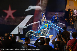 Unveiling of Coni Bernasconi's CCCP Motorcycles (Lucerne) Ulfberht Viking-inspired chopper at the Swiss-Moto Customizing and Tuning Show. Zurich, Switzerland. Saturday, February 23, 2019. Photography ©2019 Michael Lichter.