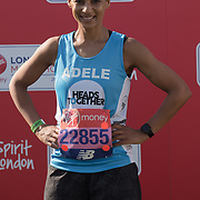 Adele Roberts at London Marathon 2018 on 22 April 2018, Blackhealth, London, UK.