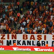 Galatasaray's supporters during their Turkish Super League soccer match Galatasaray between Osmanlispor at the AliSamiYen Spor Kompleksi TT Arena at Seyrantepe in Istanbul Turkey on Monday, 24 August 2015. Photo by Aykut AKICI/TURKPIX