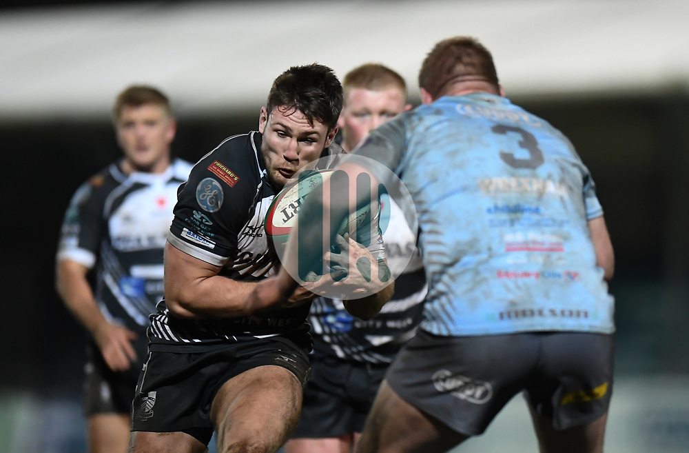 Josh Hawkins of Pontypridd in action<br /> Photographer Mike Jones/Replay Images<br /> <br /> Principality Premiership - Neath v Pontypridd - Friday 16th March 2018 - The Gnoll Neath<br /> <br /> World Copyright © Replay Images . All rights reserved. info@replayimages.co.uk - http://replayimages.co.uk