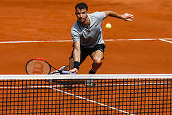 April 25, 2018 - Barcelona, Spain - Grigor DIMITROV from Bulgaria during the Barcelona Open Banc Sabadell 66º Trofeo Conde de Godo at Reial Club Tenis Barcelona on 25 of April of 2018 in Barcelona. (Credit Image: © Xavier Bonilla/NurPhoto via ZUMA Press)