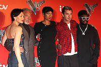 Emma Willis, Tom Jones, Jennifer Hudson, Gavin Rossdale, will.i.am, The Voice UK - Press Launch, Millbank Tower, London UK, 04 January 2017, Photo by Richard Goldschmidt