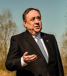 Alex Salmond Launches Alba Party Candidates, 21 April 2021<br /> <br /> The new ALBA Party launched its Central Scotland candidates at an event at the Falkirk Wheel today.<br /> <br /> Pictured: Alex Salmond, Alba Party Leader and former First Minister of Scotland<br /> <br /> Alex Todd | Edinburgh Elite Media