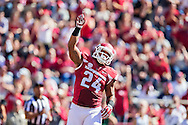 FAYETTEVILLE, AR - OCTOBER 25:  Kody Walker #24 of the Arkansas Razorbacks points to the sky after scoring a touchdown against the UAB Blazers at Razorback Stadium on October 25, 2014 in Fayetteville, Arkansas.  The Razorbacks defeated the Blazers 45-17.  (Photo by Wesley Hitt/Getty Images) *** Local Caption *** Kody Walker