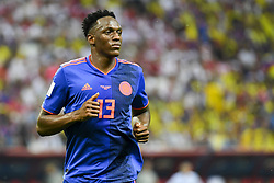 June 25, 2018 - Kazan, Russia - Yerry Mina of Colombia pictured during the 2018 FIFA World Cup Group H match between Poland and Colombia at Kazan Arena in Kazan, Russia on June 24, 2018  (Credit Image: © Andrew Surma/NurPhoto via ZUMA Press)