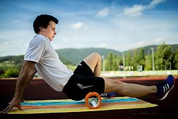 Media day of athlete Tadej Enci, 400m runner, organised by ZSIS - POK, on June 5, 2017 in Stadium Ob Jezeru, Velenje, Slovenia. Photo by Vid Ponikvar / Sportida