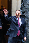 January 30, 2020, London, England, United Kingdom: U.S. Secretary of State Mike Pompeo gestures as he leaves 10 Downing Street in London, Thursday, Jan. 30, 2020. (Credit Image: © Vedat Xhymshiti/ZUMA Wire)
