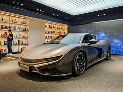 October 10, 2018 - Shanghai, Shanghai, China - Shanghai,CHINA-The Qiantu K50 is the first electric car made of carbon fiber released in Shanghai, China. (Credit Image: © SIPA Asia via ZUMA Wire)