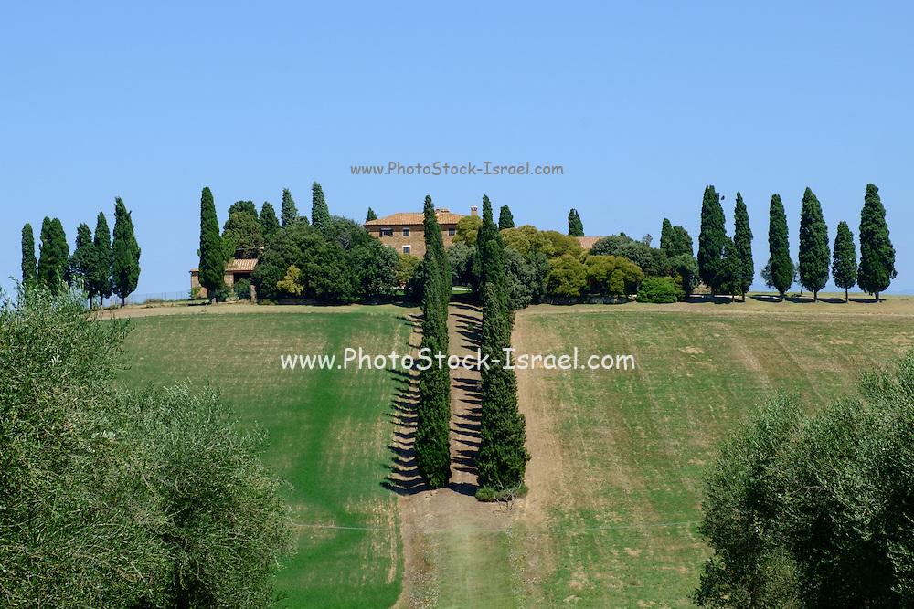 Villa Rocca d'Orcia castle, Tuscany, Italy