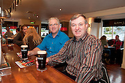 Pictured at the Huntsman, Co. Galway is Greg Quain and Michael Quain both living in Renmore attending the GUINNESS Mid-Strength Taste Test Tour. Guinness Master Brewer Fergal Murray along with Mick Galway hosted the event, which featured a special Q&A on rugby and a Pour Your Pint Competition. .Full details are available on www.Facebook.com/Guinnessireland GUINNESS Mid-Strength has the unmistakable distinctive taste and is brewed in exactly the same way as GUINNESS, just with less alcohol at 2.8%...The GUINNESS word and associated logos are trademarks...Enjoy Guinness Sensibly...Visit www.drinkaware.ie..Photo:Andrew Downes.