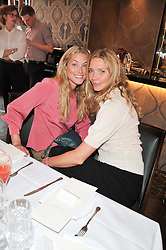 Left to right, HEIDI BISHOP and JODIE KIDD at a lunch to launch Cash & Rocket on Tour 2013 hosted by Julia Brangstrup in aid of Orpan Aid and Shine on Sierrra Leone held at Banca, 40 North Audley Street, London on 29th April 2013.