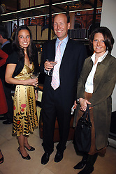 Left to right, PIPPA MIDDLETON and MR & MRS JAMES PALMER-TOMPKINSON at a party to celebrate the publication of 'Young Stalin' by Simon Sebag-Montefiore at Asprey, New Bond Street, London on 14th May 2007.<br /><br />NON EXCLUSIVE - WORLD RIGHTS
