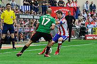 Atletico de Madrid´s Gabi and Athletic Club´s Mikel Rico during 2014-15 La Liga match between Atletico de Madrid and Athletic Club at Vicente Calderon stadium in Madrid, Spain. May 02, 2015. (ALTERPHOTOS/Luis Fernandez)