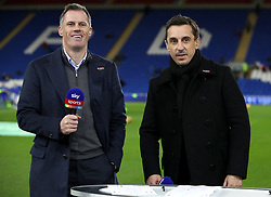 Sky Sports pundits Jamie Carragher (left) and Gary Neville