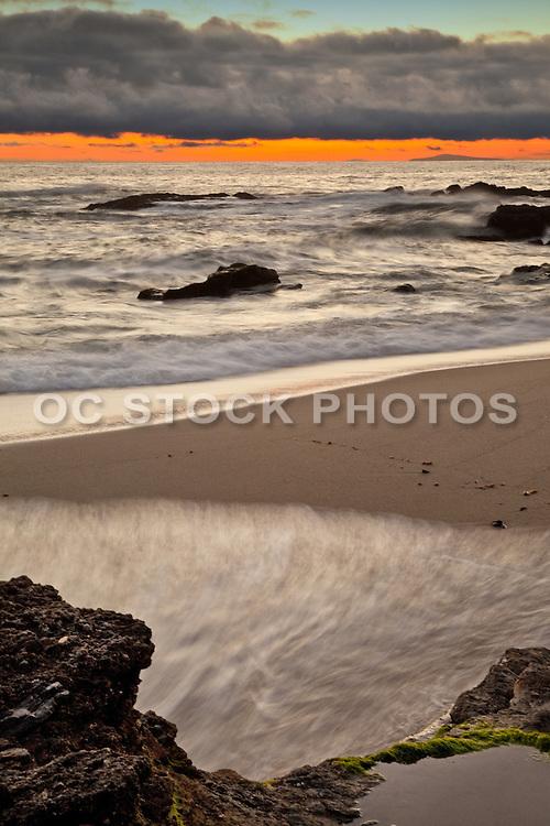 Laguna Beach Coastline At Sunset
