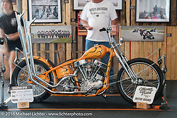 Matt Jackson's custom Panhead in the Harley-Davidson Inviational Bike Show at the Harley-Davidson Museum during the Milwaukee Rally. Milwaukee, WI, USA. Sunday, September 4, 2016. Photography ©2016 Michael Lichter.