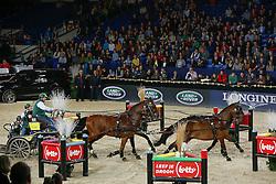 Timmerman Theo (NED) - Boris, Bonusz, Oosterwijk's Kasper, Joep<br /> FEI World Cup For In Hand Driving<br /> Vlaanderens Kerst Jumping Mechelen 2013<br /> © Hippo Foto - Dirk Caremans