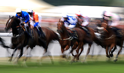Action from the Queen Alexandra Stakes as Winning Story ridden by jockey Silvestre De Sousa leads during day five of Royal Ascot at Ascot Racecourse.