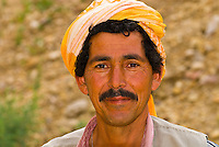 Tunisian man at the oasis of Chebika, in the Sahara Desert, Tunisia