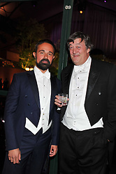 Left to right, EVGENY LEBEDEV and STEPHEN FRY at the Raisa Gorbachev Foundation Gala held at the Stud House, Hampton Court, Surrey on 22nd September 22 2011