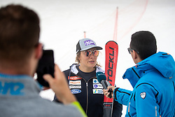 Ilka Stuhec and Martin Pavcnik during interview at spring practice session of Meta Hrovat and Ilka Stuhec on May 18, 2020 in Kanin, Bovec, Slovenia. Photo by Matic Klansek Velej / Sportida