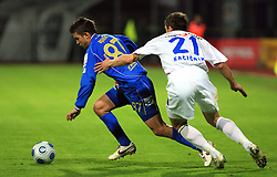 Tadej Apatic of Domzale vs Ales Kacicnik of Celje at 30th Round of Slovenian First League football match between NK Domzale and NK MIK CM Celje in Sports park Domzale, on April 25, 2009, in Domzale, Slovenia. Celje won 3:0. (Photo by Vid Ponikvar / Sportida)