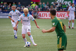 November 4, 2018 - Portland, OR, U.S. - PORTLAND, OR - NOVEMBER 04: Seattle Sounders midfielder Nicolás Lodeiro (10) controls a ball during the Portland Timbers first leg of the MLS Western Conference Semifinals against the Seattle Sounders on November 04, 2018, at Providence Park in Portland, OR. (Photo by Diego Diaz/Icon Sportswire) (Credit Image: © Diego Diaz/Icon SMI via ZUMA Press)