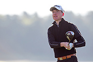 Dylan Keating (Seapoint) on the 2nd tee during Round 2 of the Ulster Boys Championship at Donegal Golf Club, Murvagh, Donegal, Co Donegal on Thursday 25th April 2019.<br /> Picture:  Thos Caffrey / www.golffile.ie