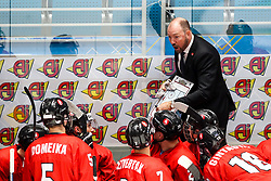 Daniel Lacroix, head coach of Lithuania during ice hockey match between Lithuania and Belarus at IIHF World Championship DIV. I Group A Kazakhstan 2019, on April 29, 2019 in Barys Arena, Nur-Sultan, Kazakhstan. Photo by Matic Klansek Velej / Sportida