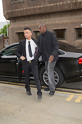 (c) Licensed to London News Pictures. 18/06/2014 Essex, UK. Costadinos Contosstavlos aka Dappy, arrives at Chelmsford Magistrates Court for his trial. Dappy is charged with an assault which is alleged to have occurred on 27th February this year. He is supported today by his fellow Big Brother contestant, Jim Davidson. Photo credit Simon Ford/LNP