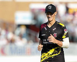 Somerset's Tom Abell<br /> <br /> Photographer Simon King/Replay Images<br /> <br /> Vitality Blast T20 - Round 1 - Somerset v Gloucestershire - Friday 6th July 2018 - Cooper Associates County Ground - Taunton<br /> <br /> World Copyright © Replay Images . All rights reserved. info@replayimages.co.uk - http://replayimages.co.uk