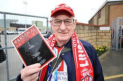 Lincoln City fan John Mann before departing from Sincil Bank in Lincoln for the Emirates FA Cup match with Arsenal.