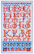 cross stitch alphabet lettering design pattern