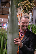 Simon Lycett, renowned floralist at the Covent Garden Market, London, UK