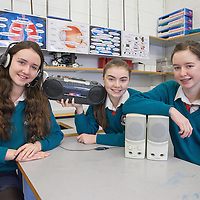 Roisin Coffey, Claire McNamara and Máire Donnellan from St John Bosco Community College with their project The importance of local radio in rural communities.