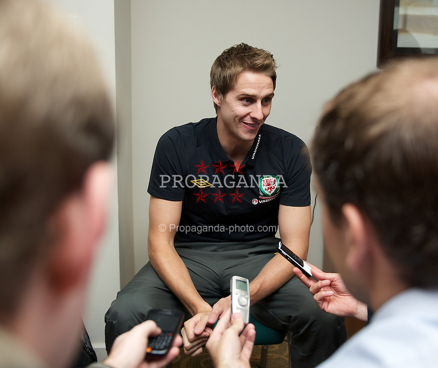 CARDIFF, WALES - Wednesday, November 9, 2011: Wales' David Edwards during a media session at the St. David's Hotel ahead of the friendly match against Norway. (Pic by David Rawcliffe/Propaganda)